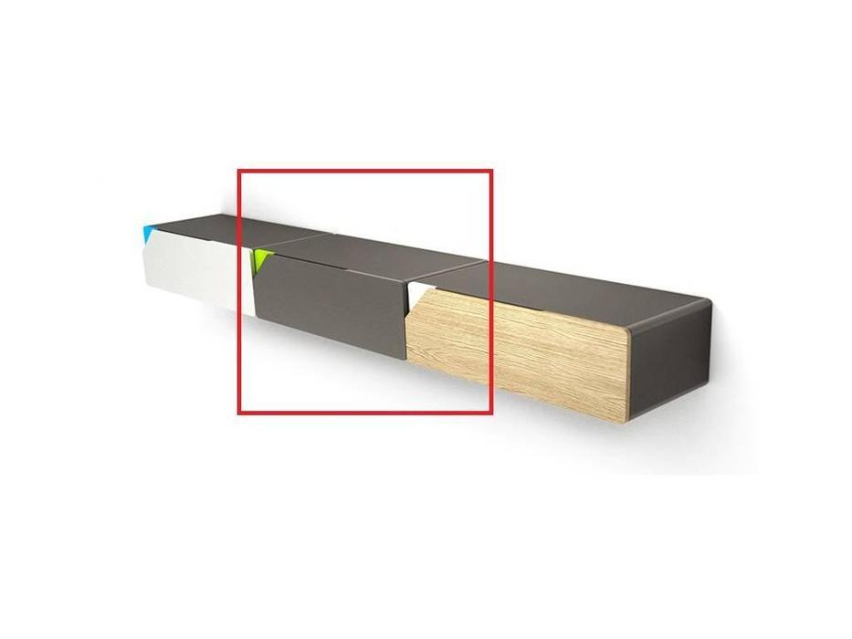 Timoore: Beep: стеллаж навесной  1 ящик (графит)