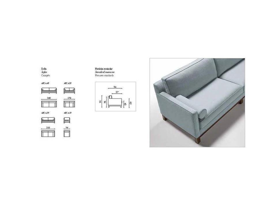 Manuel Larraga: Arca: диван 3 местный  (ткань кат. В)