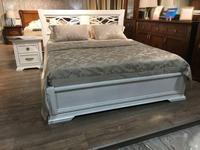 Liberty-M: Палермо: кровать 160х200  с резным изголовьем (белый)
