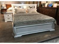 Liberty-M: Палермо: кровать 180х200  с резным изголовьем (белый)