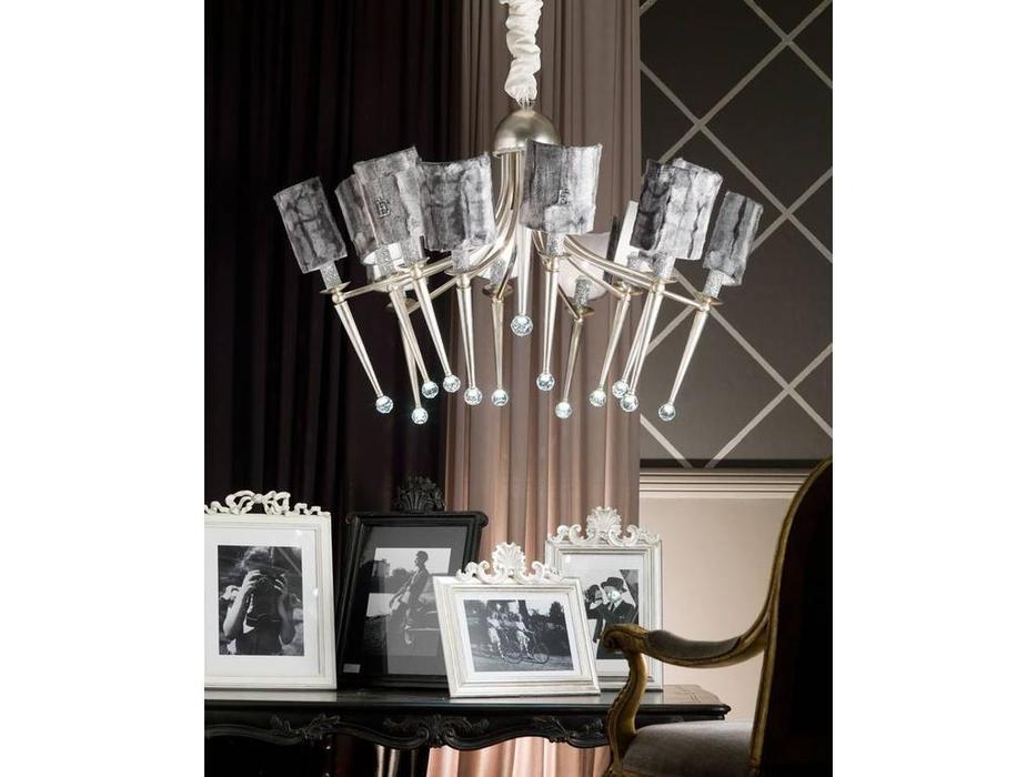 Euro Lamp Art: Elenoire: люстра подвесная  (сребро)