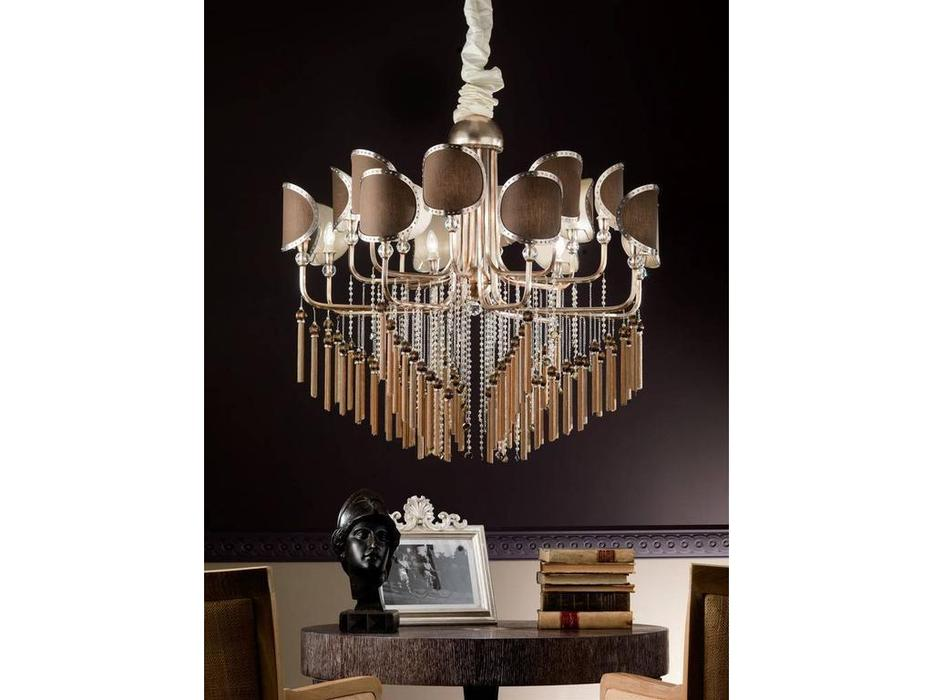 Euro Lamp Art: Sibilla: люстра подвесная  (золото матовое, серебро)