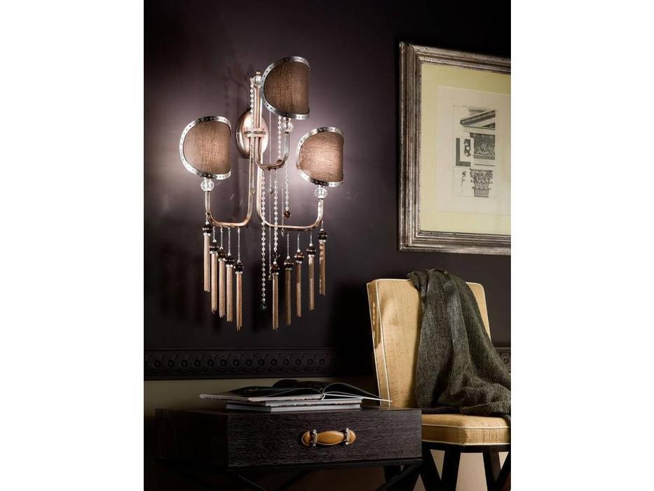 Euro Lamp Art: Sibilla: бра  3 рожка (золото матовое, серебро)