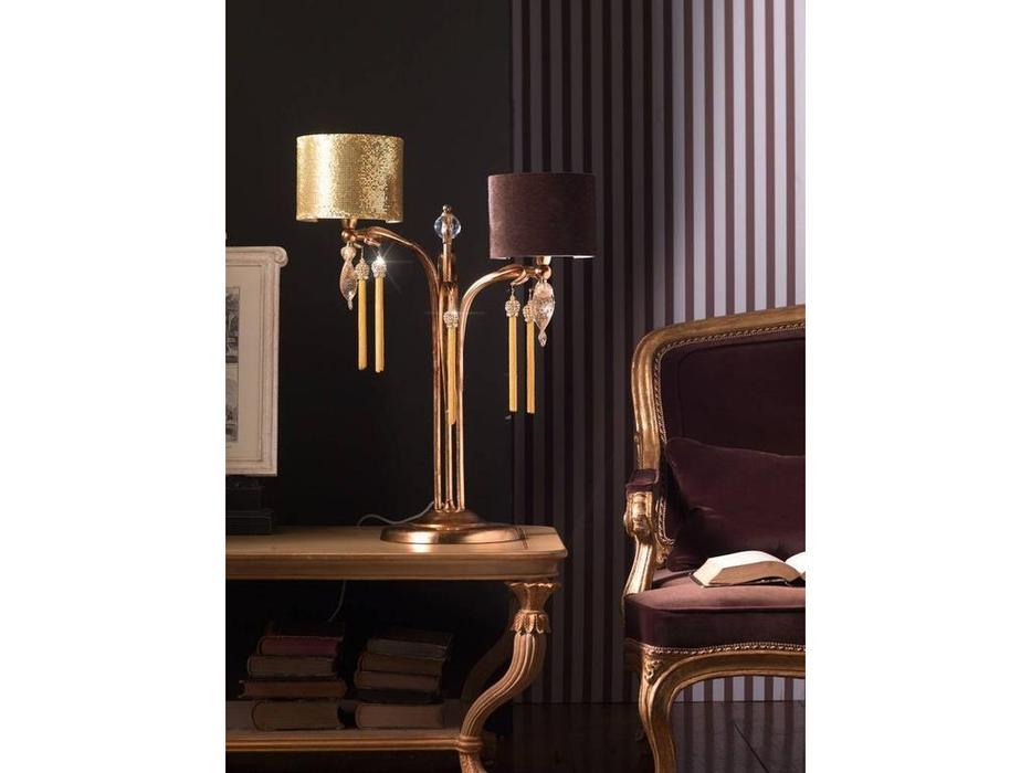 Euro Lamp Art: Guenda: лампа настольная  2 рожка (золото)