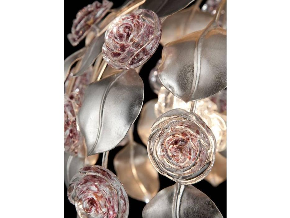 Euro Lamp Art: Rose: люстра подвесная  (серебро)