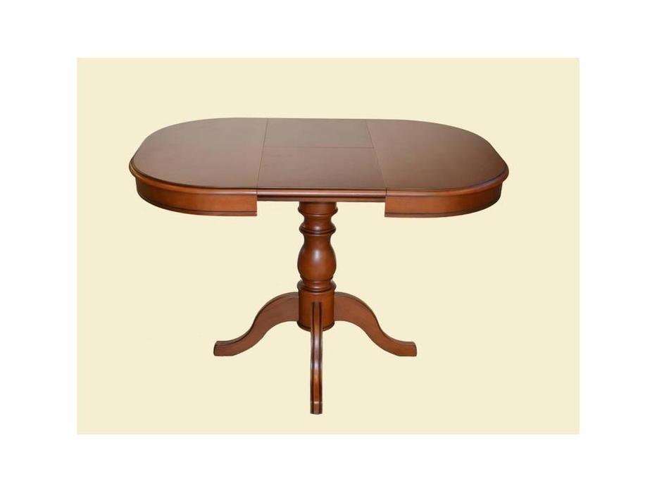 Лорес: Николь 3: стол обеденный раскладной (вишня, патина темная)