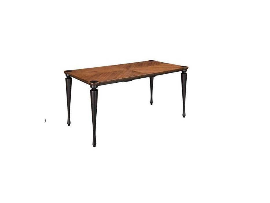 Лорес: Флоранс: стол обеденный раскладной (орех Далорес, черный)
