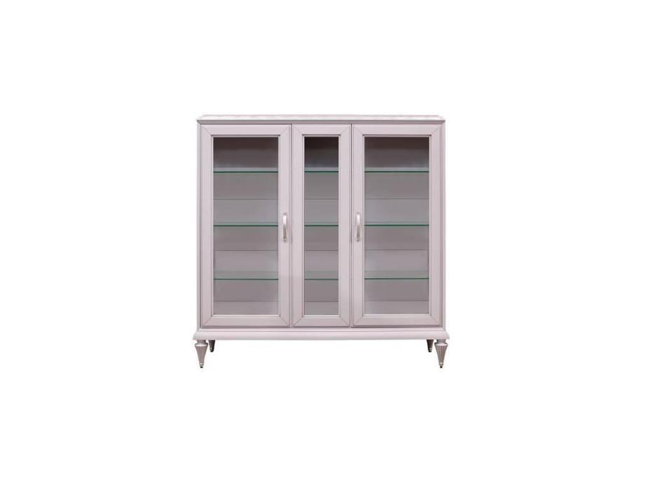 Лорес: Далорес: витрина 3 дверная низкая (лаванда, патина)