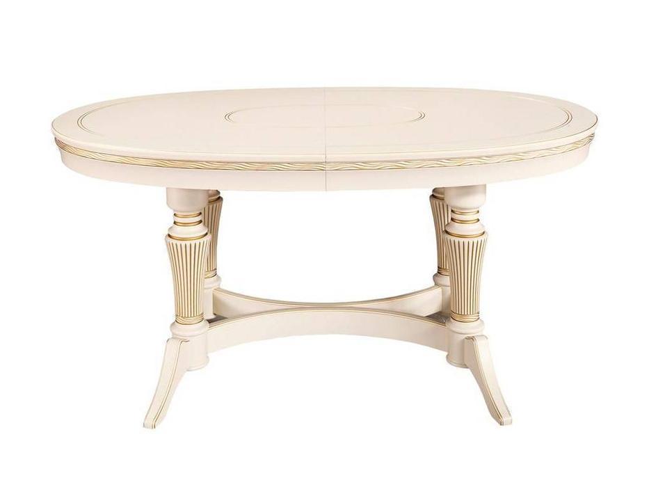 Лорес: Далорес: стол обеденный  Далорес 4 (слоновая кость, золотая патина)