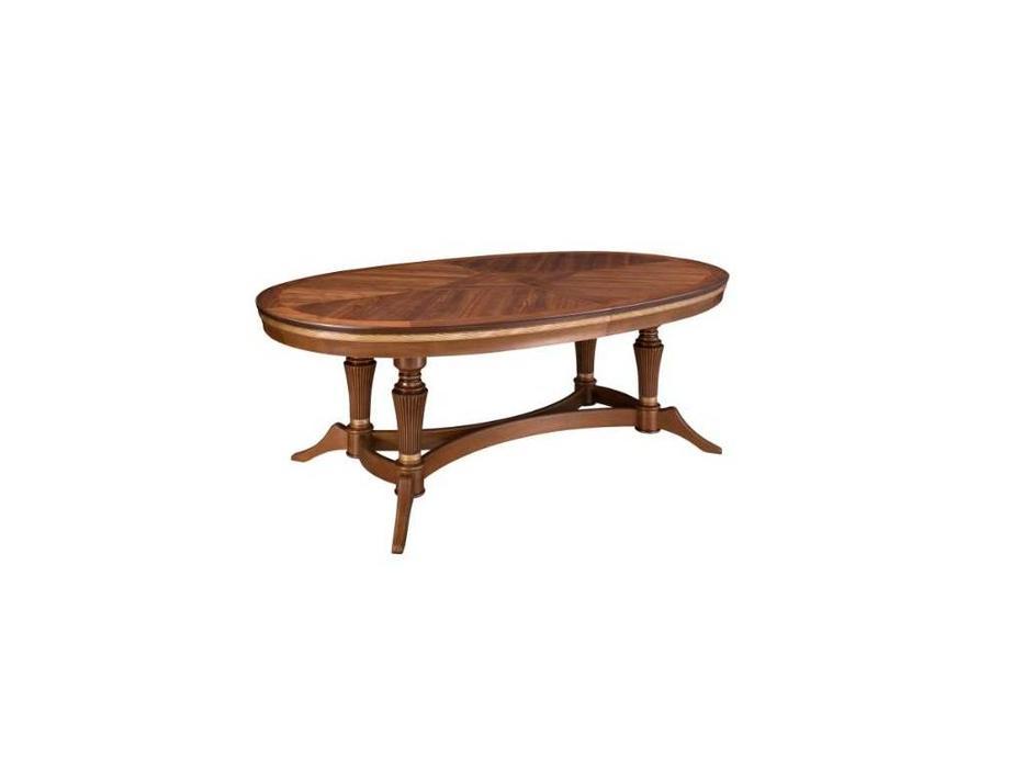Лорес: Далорес: стол обеденный Далорес 5 раскладной (орех, патина)