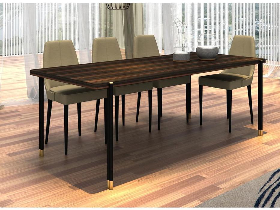 Mod Interiors: Benissa: стол обеденный  (эбеновое дерево)