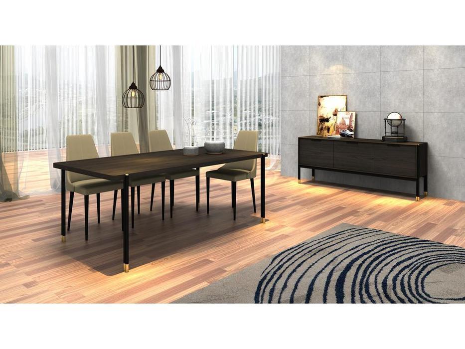 Mod Interiors: Benissa: гостиная  (эбеновое дерево)