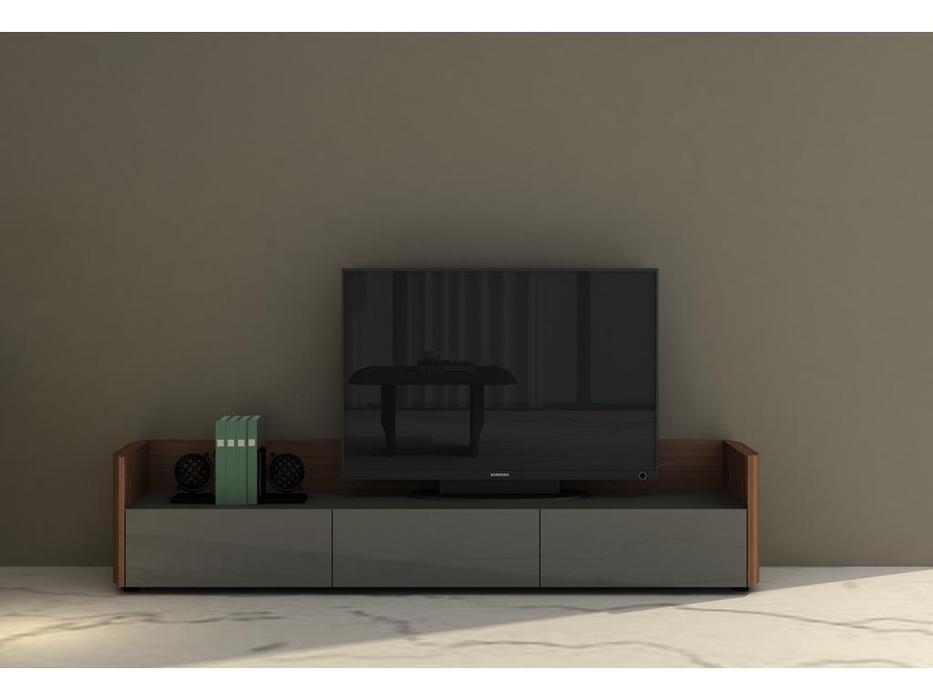 Mod Interiors: Avila: тумба под телевизор  (орех, серый)
