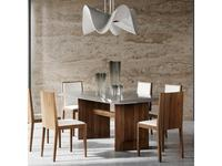 Mod Interiors: Avila: стол обеденный  (орех, серый)