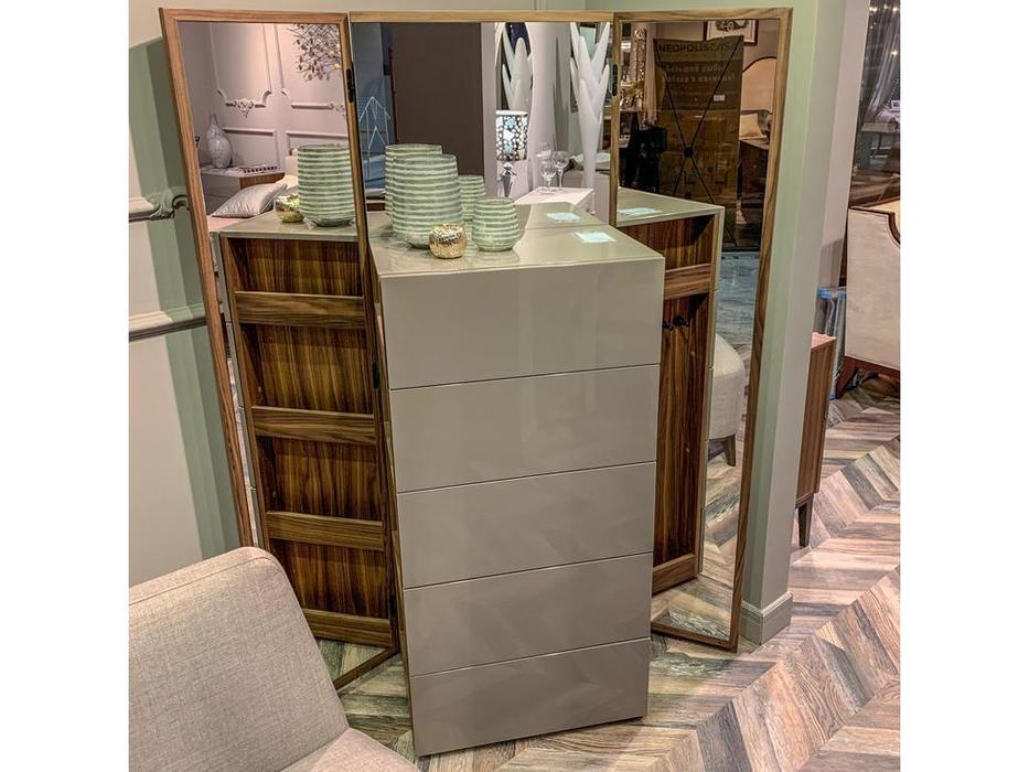 Mod Interiors: Avila: комод высокий  с зеркалом (орех, серый)
