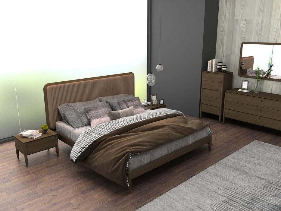 Mod Interiors: Paterna: кровать 160х200  (дуб, бежевый)