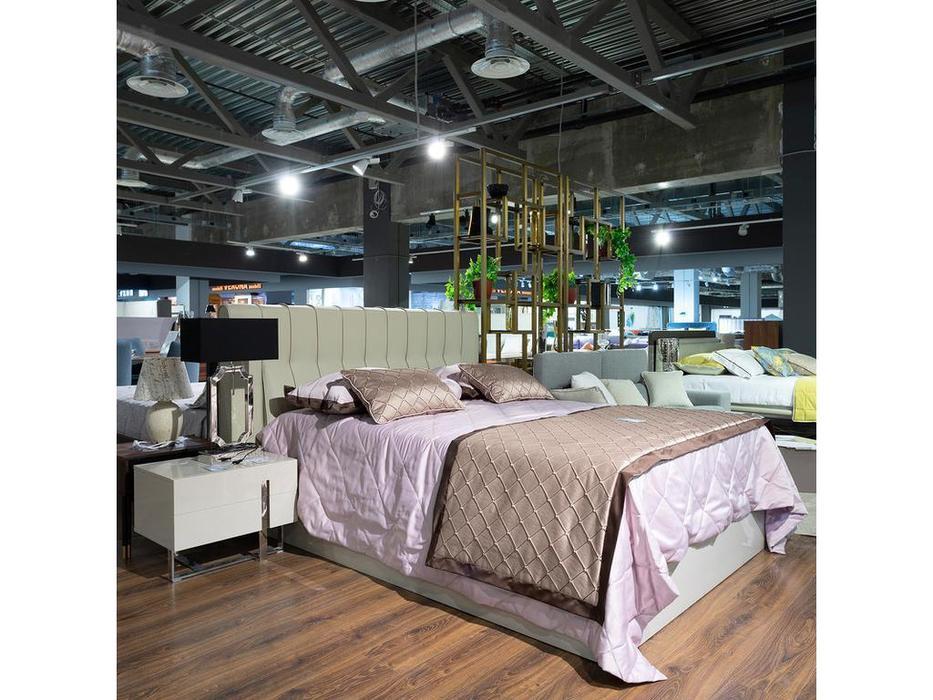 Mod Interiors: Vigo: кровать 180х200 c подъемным механизмом  (бежевый)