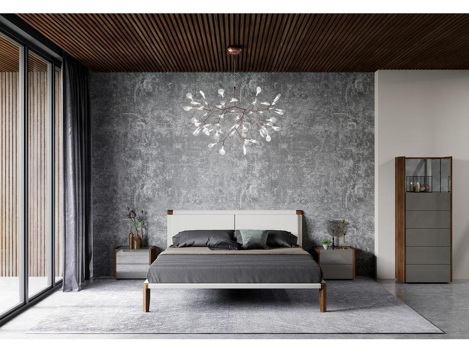 Mod Interiors: Avila: кровать 160х200  (орех, бежевый)