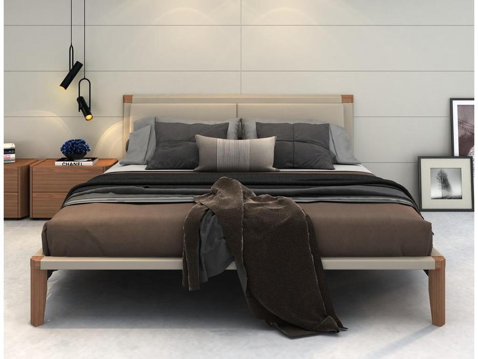 Mod Interiors: Avila: кровать 180х200  (орех, бежевый)