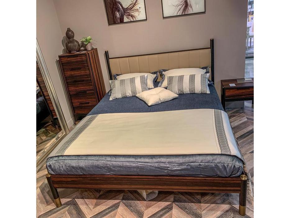 Mod Interiors: Benissa: кровать 160х200  (эбеновое дерево)