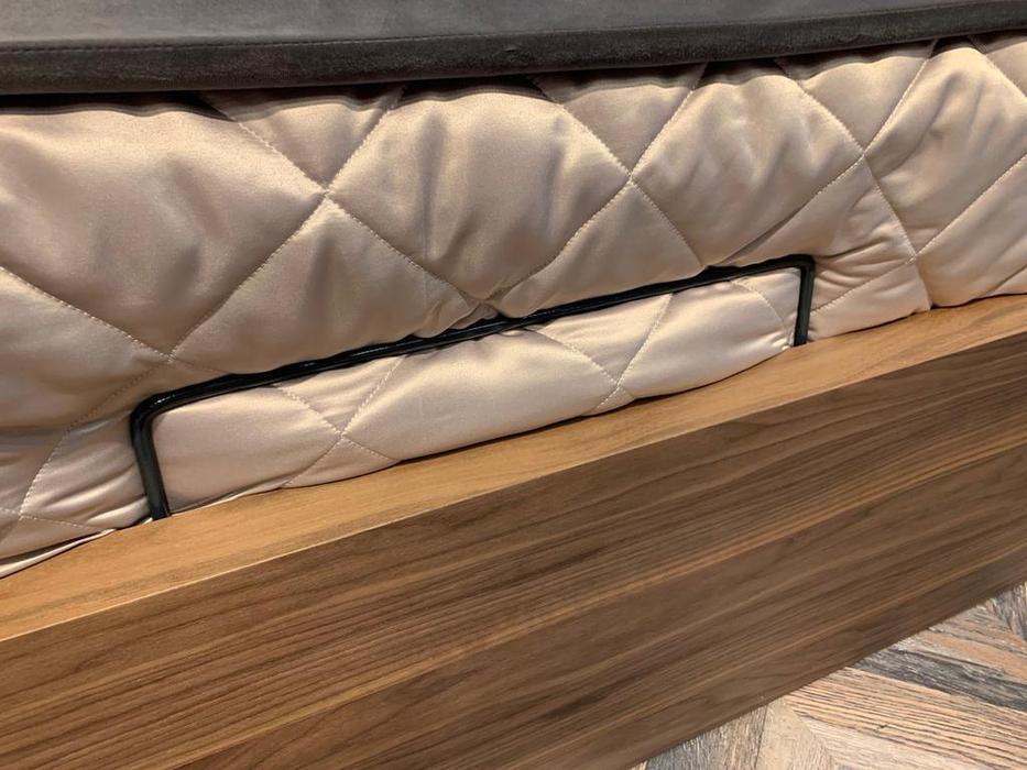 Mod Interiors: Menorca: кровать 180х200 c подъемным механизмом  (орех, серый)