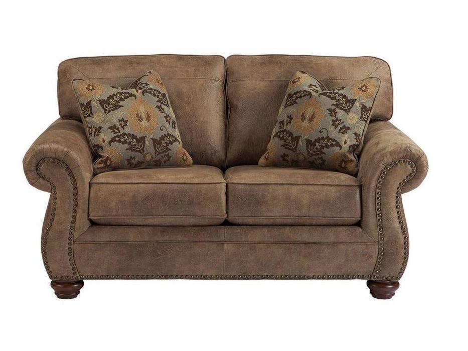 Ashley: Larkinhurst: диван 2-х местный  (коричневый)