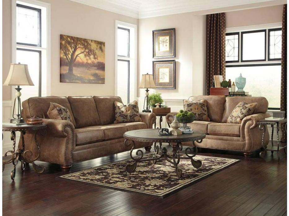 Ashley: Larkinhurst: диван 3-х местный  (коричневый)