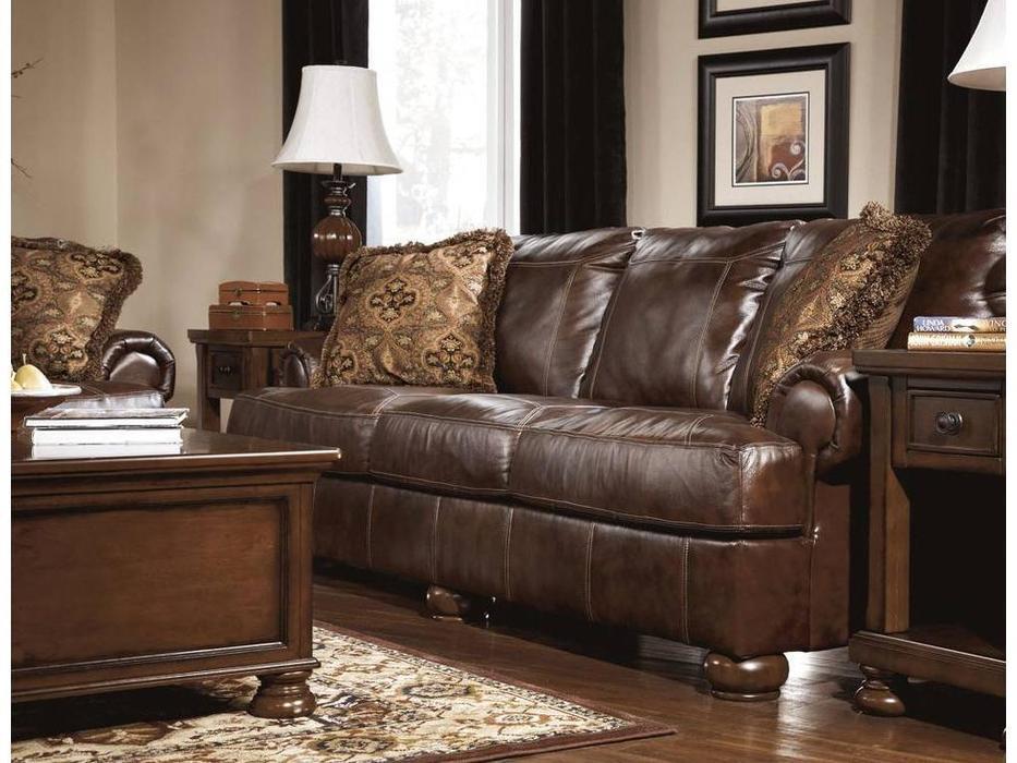 Ashley: Axiom: диван 3-х местный  (коричневый)