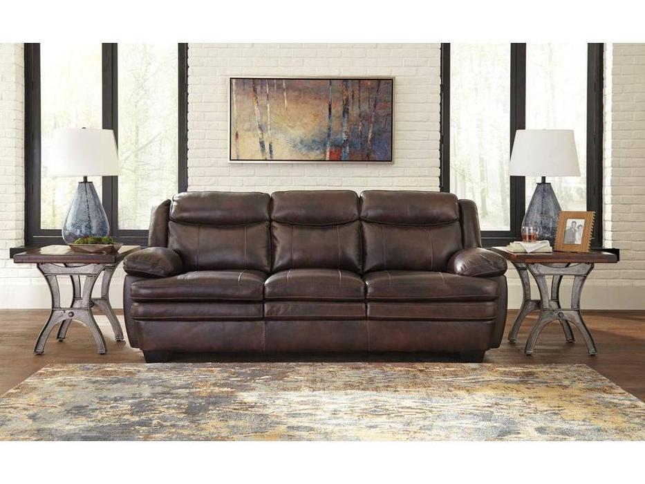 Ashley: Hannalore: диван 3-х местный  (коричневый)