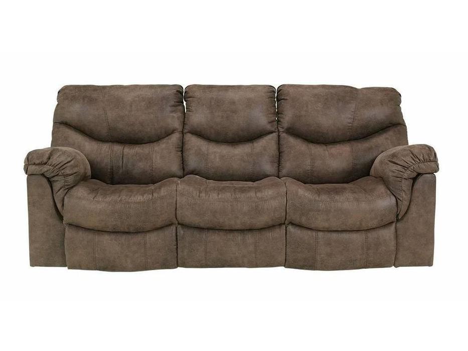 Ashley: Alzena: диван 3-х местный  реклайнер (коричневый)