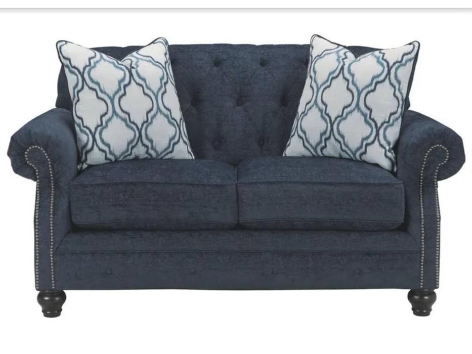 Ashley: LaVernia: диван 2-х местный  (синий)