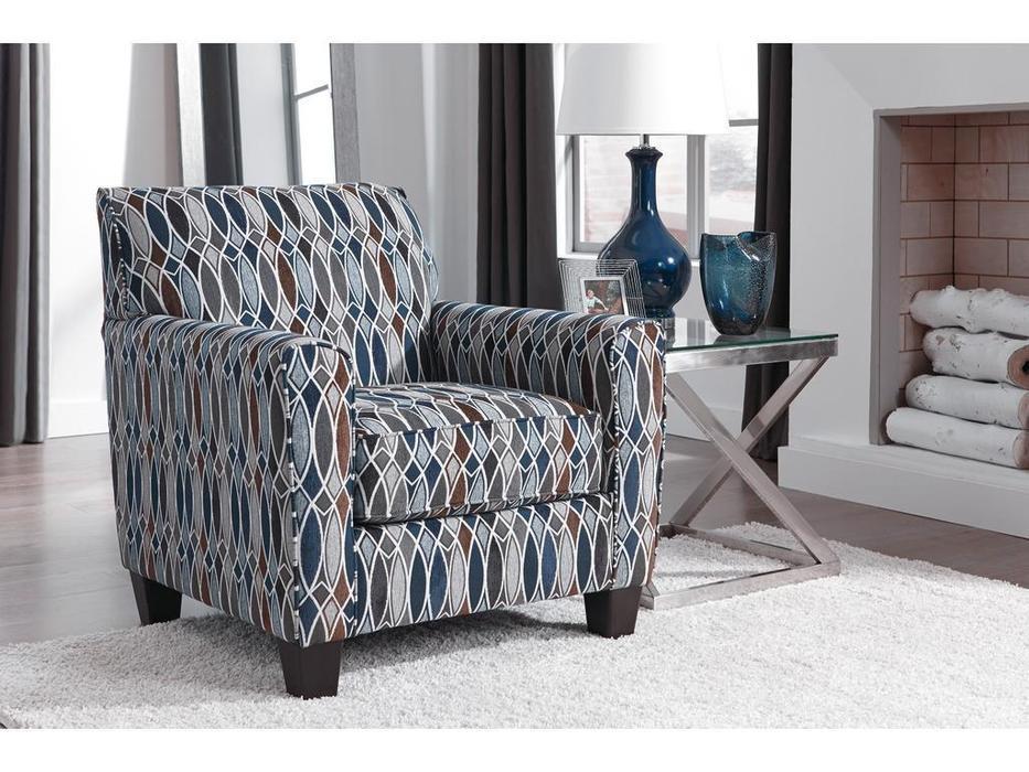Ashley: Creeal Heights: кресло  (коричнево-синий)