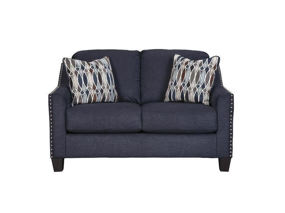Ashley: Creeal Heights: диван 2 местный  (синий)