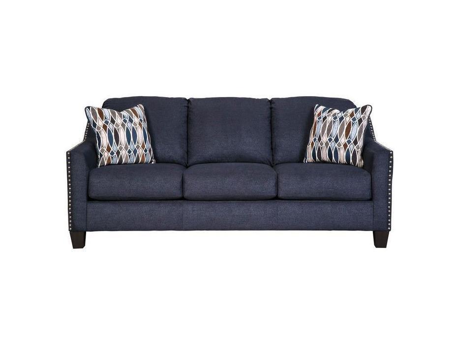 Ashley: Creeal Heights: диван 3 местный  раскладной (синий)