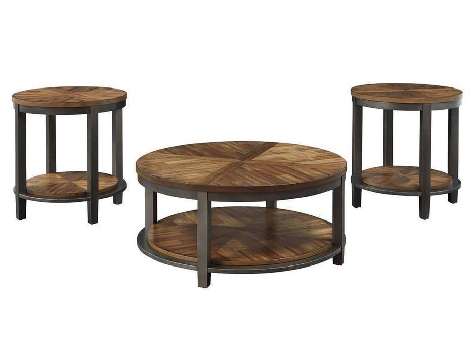 Ashley: Roybeck: стол журнальный  комплект 3 шт.(коричневый)