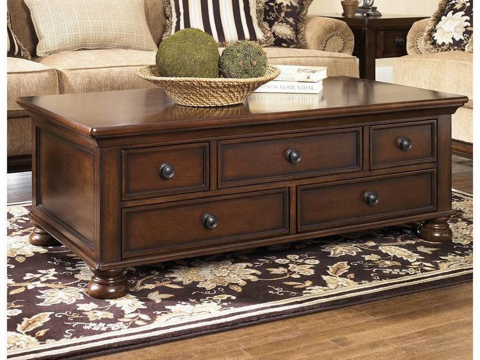 Ashley: Porter: стол журнальный  (коричневый)