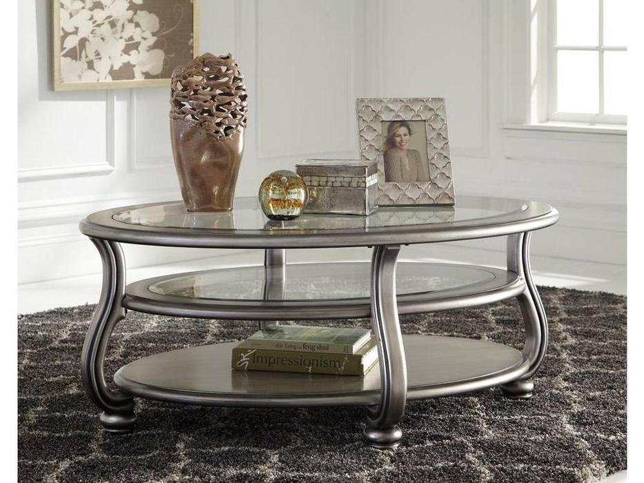 Ashley: Coralayne: стол журнальный  (серебристый)