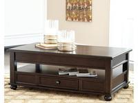 Ashley: Barilanni: стол журнальный-трансформер  (коричневый)