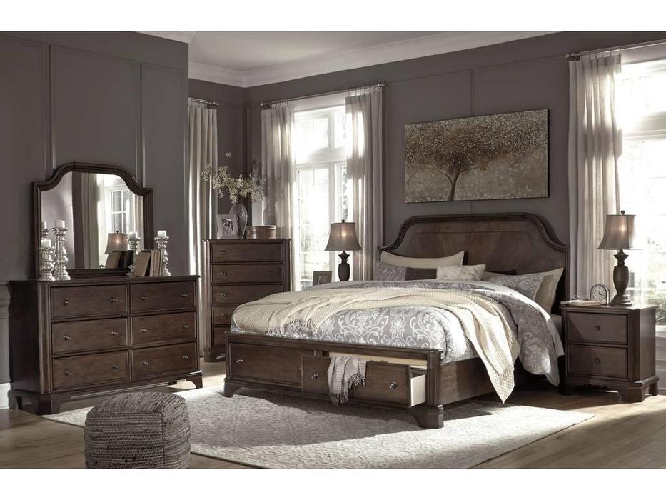 Ashley: Adinton: кровать 160х200  (коричневый)