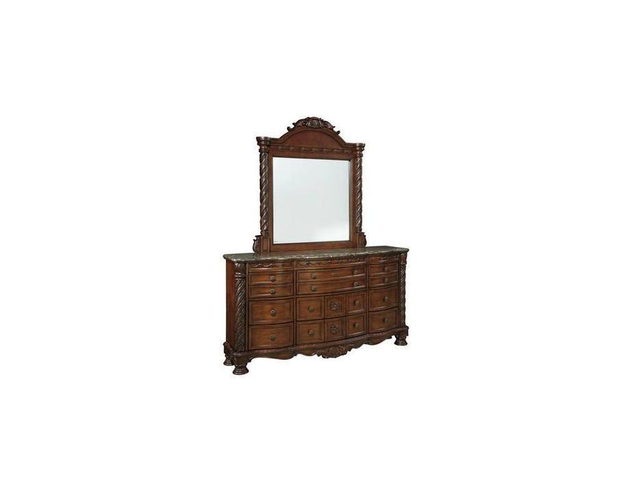 Ashley: North Shore: зеркало навесное  (коричневый)