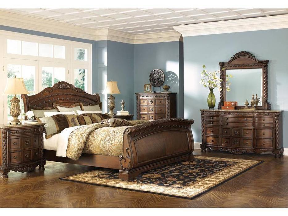 Ashley: North Shore: спальная комната  (коричневый)