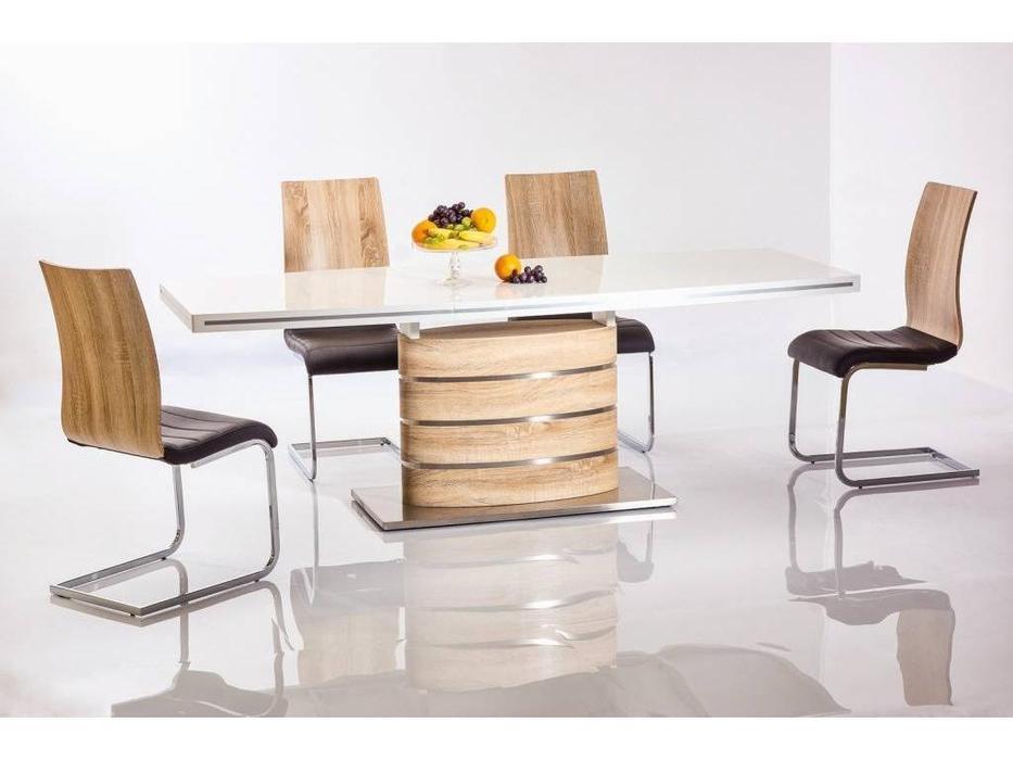 Signal: Fano: стол обеденный раскладной (белый)