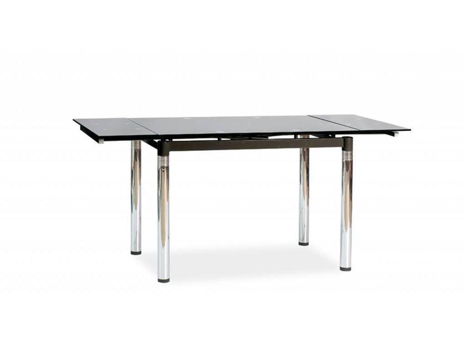 Signal: GD082: стол обеденный раскладной (стекло, черный)