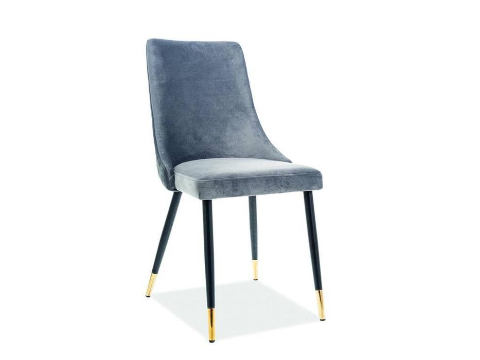Signal: Plano Velvet: стул мягкий (серый)