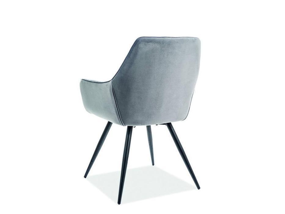 Signal: Linea Velvet: стул мягкий (серый)