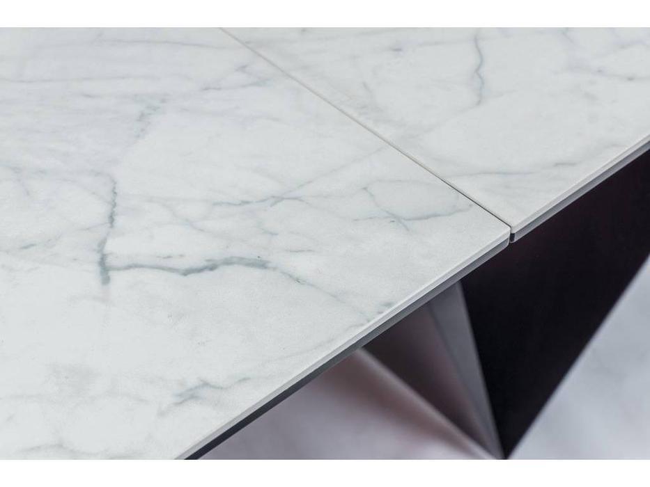 Signal: Cavalli: стол обеденный раскладной (белая керамика)