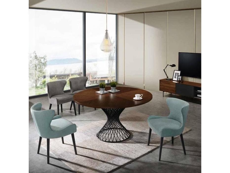 Signal: Orlando: стол со стульями (дуб)  (белый)