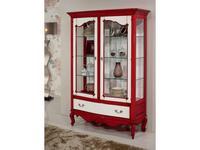 Jose Duraes: Edition: витрина 2 дверная  Vintage (белый, красный)