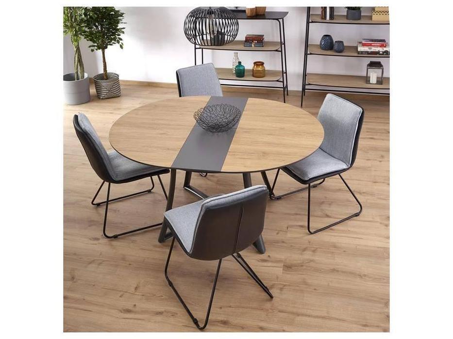 Halmar: Moretti: стол со стульями (орех)