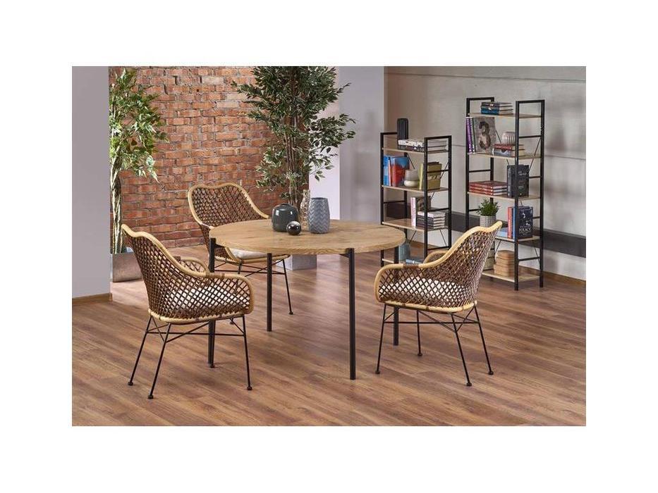 Halmar: Morgan: стол со стульями (дуб золотой)